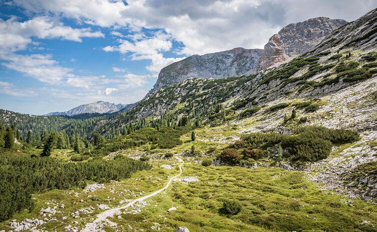 Auf dem berchtesgadener Gipfelweg zum Kärlingerhaus