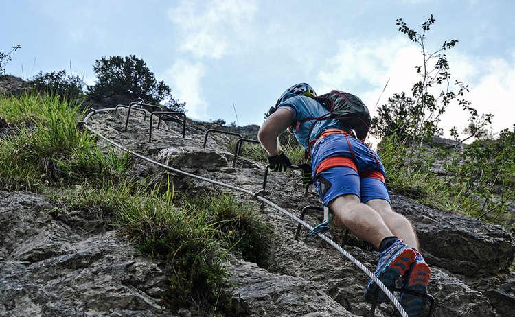 Gruenstein Isidor Klettersteig Aufstieg Berchtesgaden