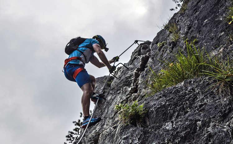 Gruenstein Klettersteig Abend Berchtesgaden
