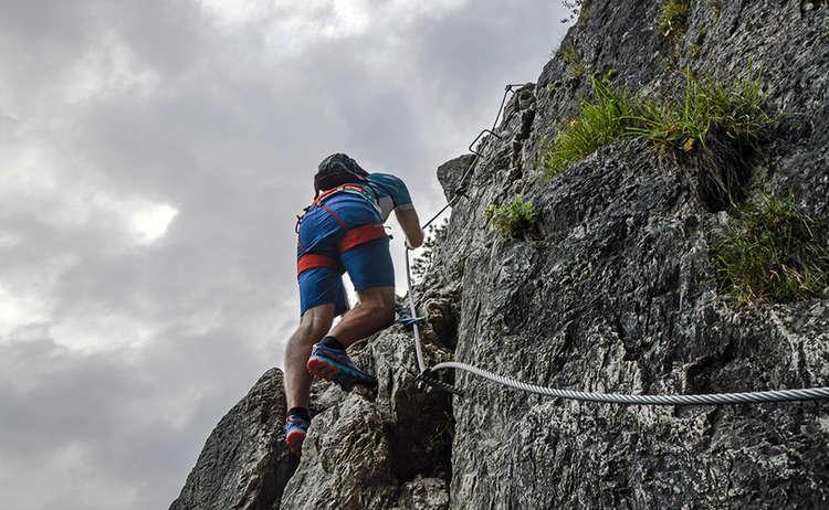 Gruenstein Klettersteig Berchtesgaden