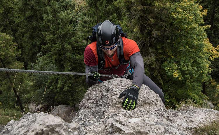 Oberhalb des Einstiegs des Grünstein Klettersteigs