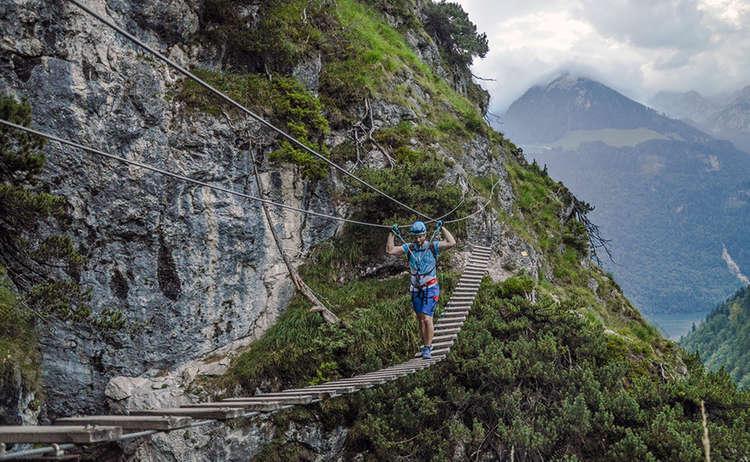 Haengebruecke Klettersteig Gruenstein Berchtesgaden 1