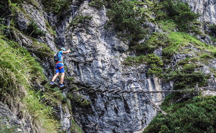 Haengebruecke Klettersteig Gruenstein Berchtesgaden