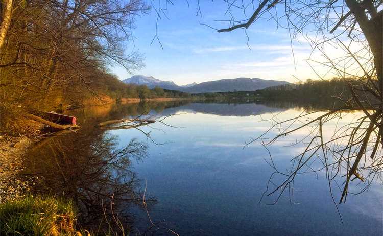 Herbst Abend Abtsdorfer See Rupertiwinekl