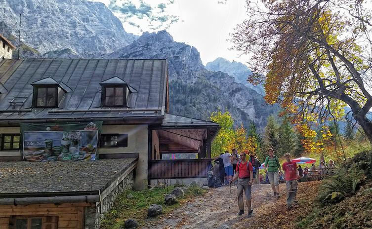 Herbst Am Wimbachschloss Bergsteigerdorf Ramsau