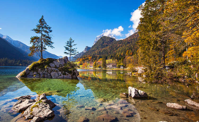Hintersee Bergsteigerdorf Ramsau Herbst