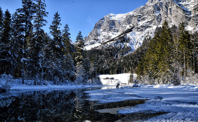Hintersee Ramsau Winter