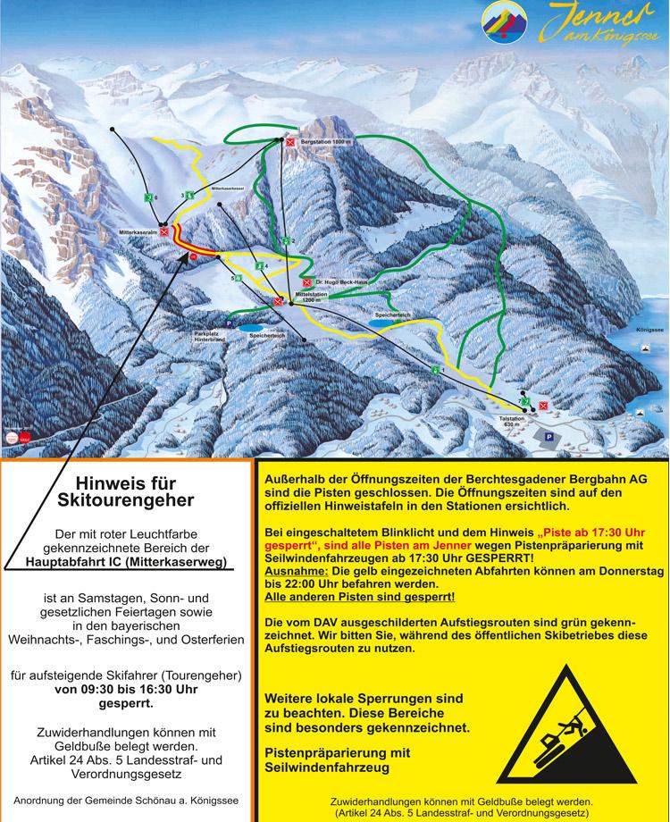 Hinweis für Skitourengeher