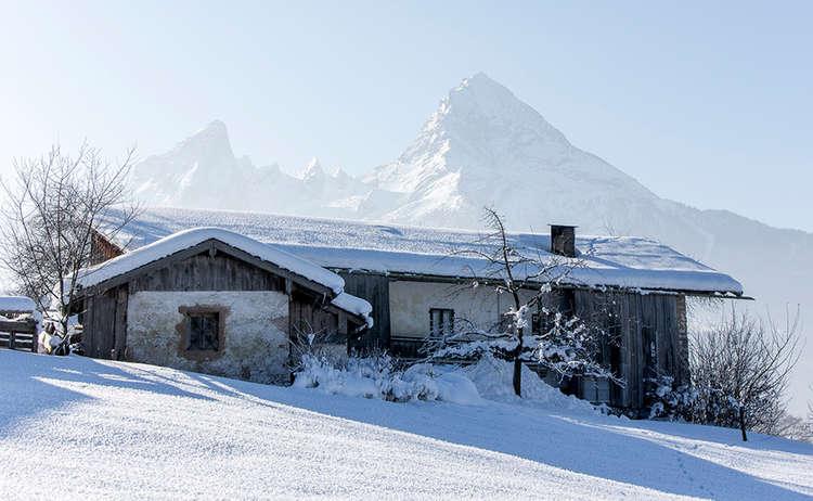 Hochgartlehen Watzmann Bischofswiesen Berchtesgaden Winter