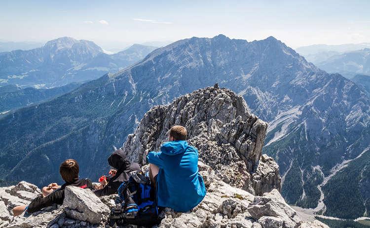 Hochkalter Bersgteiger Am Gipfel
