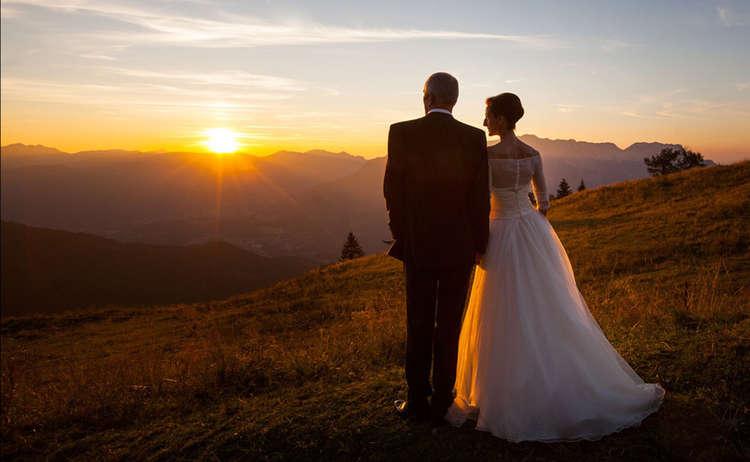 Hochzeitspaar Am Rossfeld