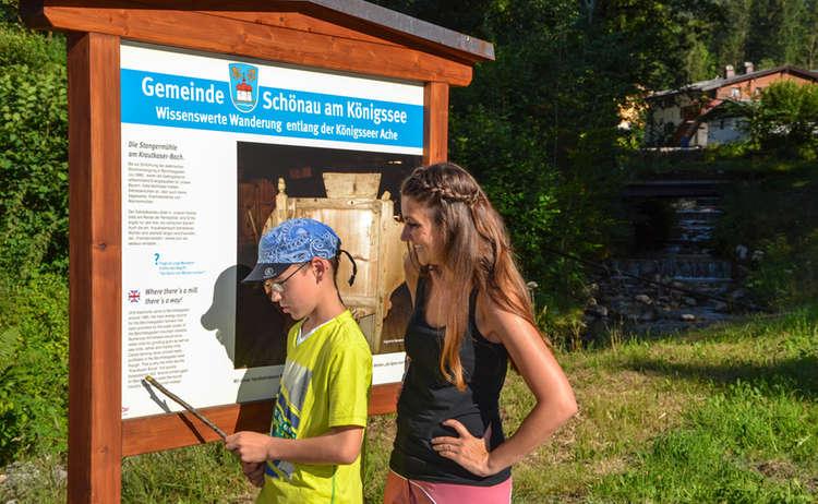 Infotafel Zu Holztrift Koenigsseer Fussweg