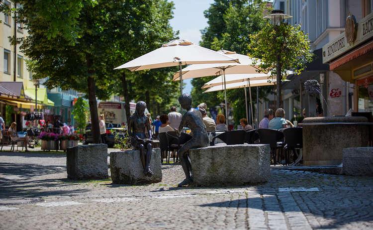 Innenstadt Fussgaengerzone Freilassing