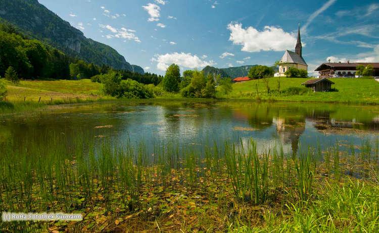 Inzell Einsiedl Weiher Kirche