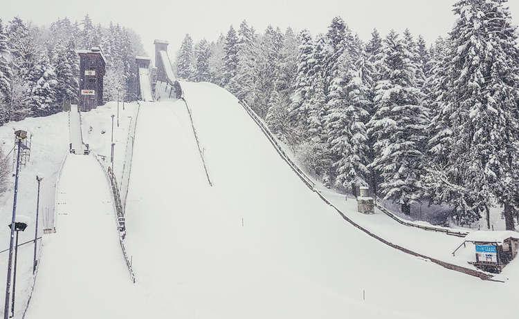 Die Skisrpungschanze am Kälberstein