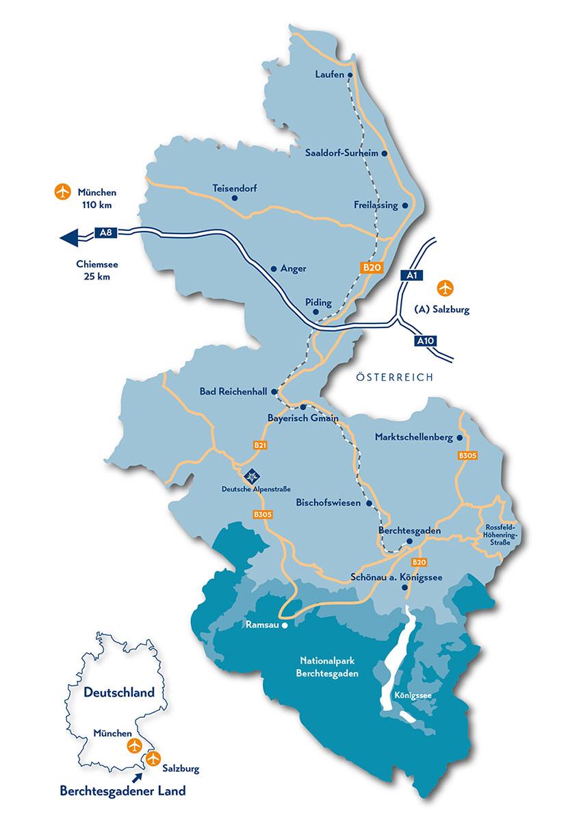Karte Berchtesgadener Land