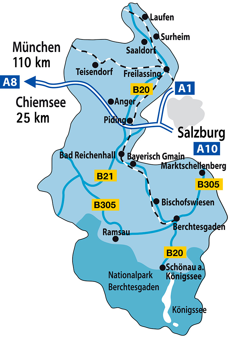 Map Berchtesgadener Land