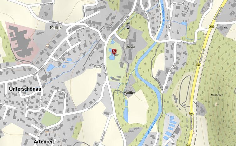 Karte Schornbad