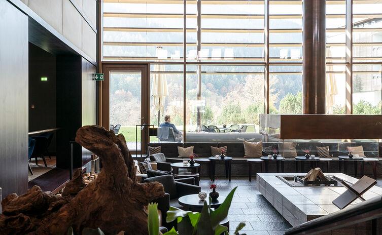 Das Foyer des Kempinski Hotel Berchtesgaden