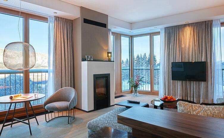 Panorama-Suite im Kempinski Hotel Berchtesgaden