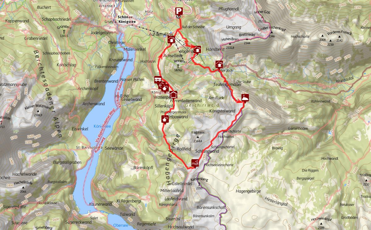 Kleine Reibn Streckenverlauf Route