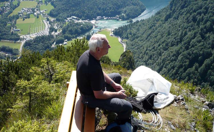 Klettersteig Gruenstein Gipfelblick