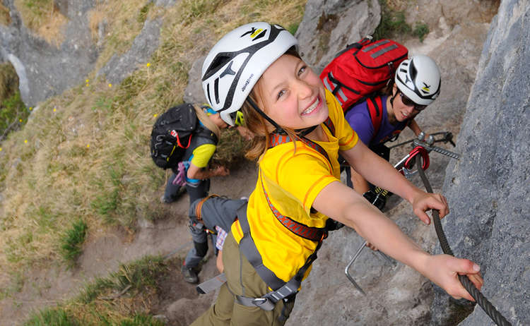 Klettersteig Gruenstein Salewa Klettersteigtage Berchtesgaden Fotograf Birgit Gelder 1