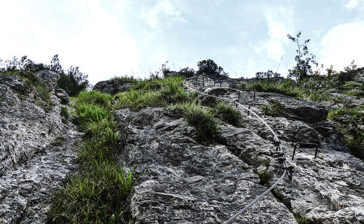Klettersteig Gruenstein