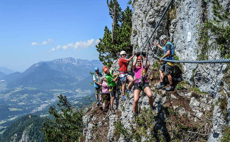 Klettersteig Jenner Seilrutsche