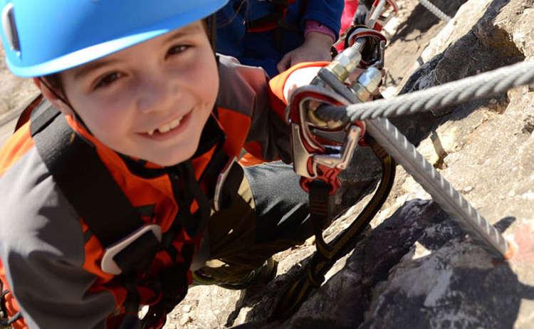 Klettersteig Kinder