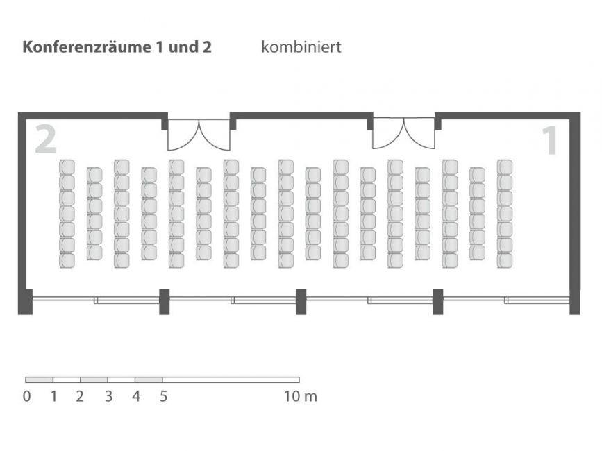 Konferenzraum 1 & 2 kombiniert | Kongresshaus Berchtesgaden