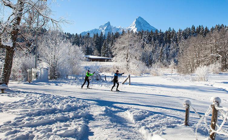 Langlaufen Berchtesgaden Aschauerweiher