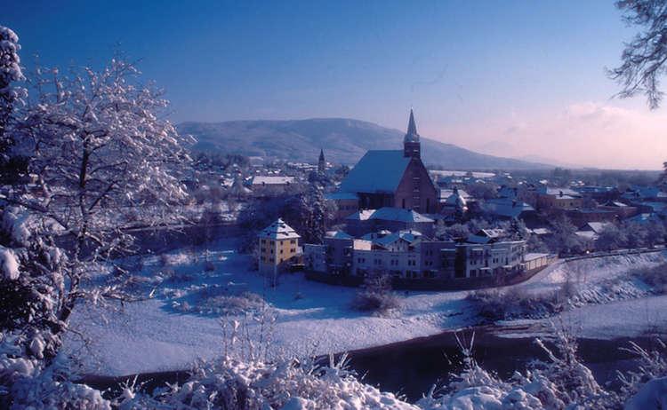 Laufen Salzachschleife im Winter
