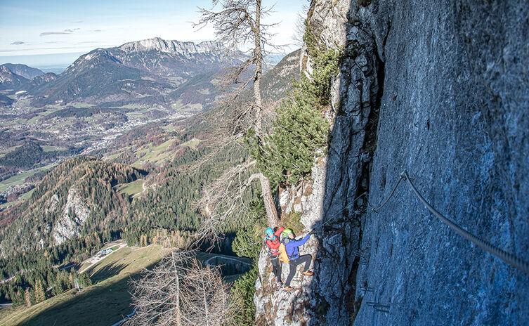 Klettern mit Aussicht: Der Laxertseig