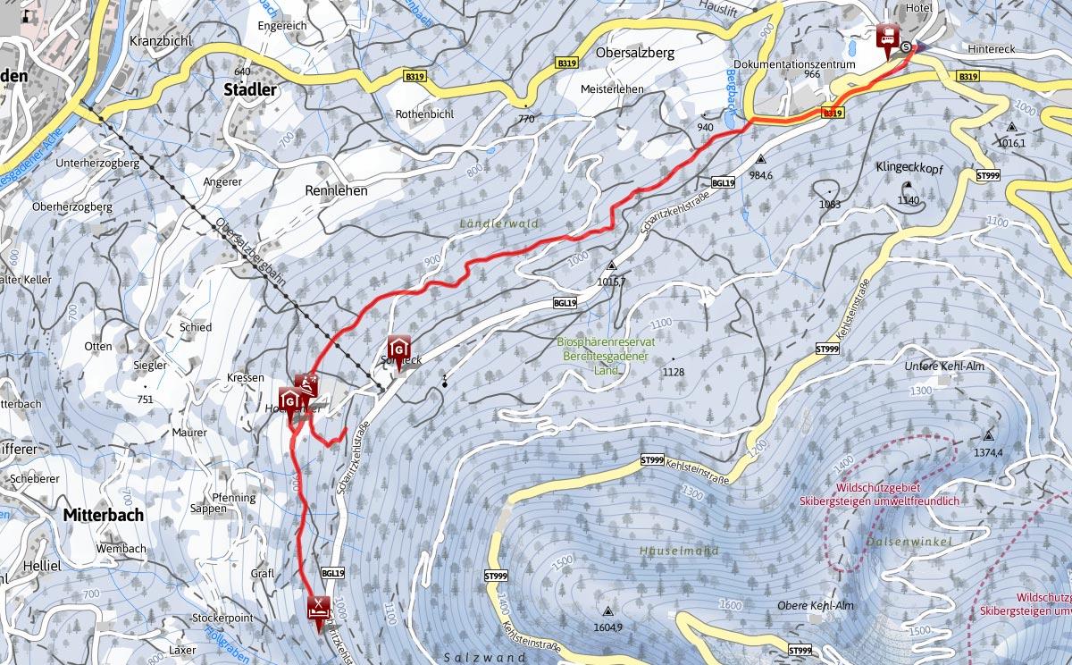 Lindeweg Karte