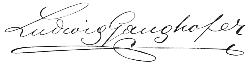 Unterschrift Ludwig Ganghofer