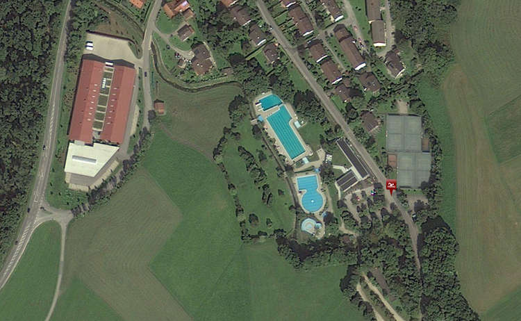 Luftaufnahme Freibad Marzoll