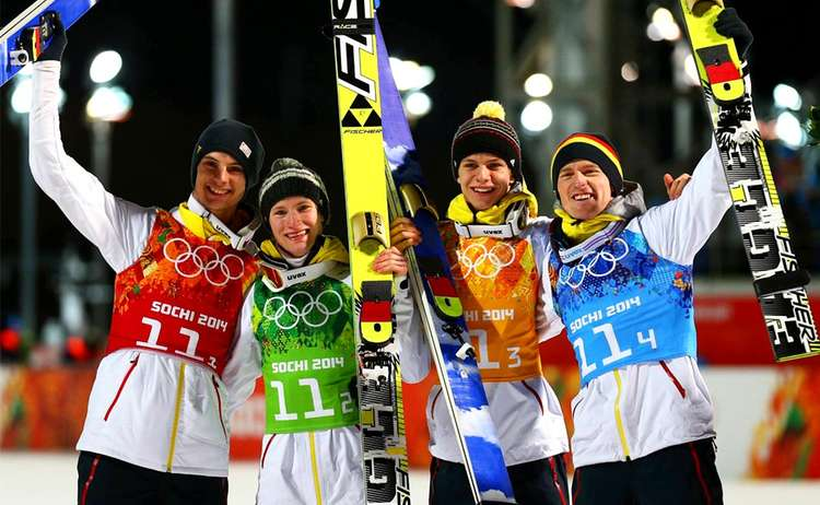 Mannschaft Skispringen Olympia 2014