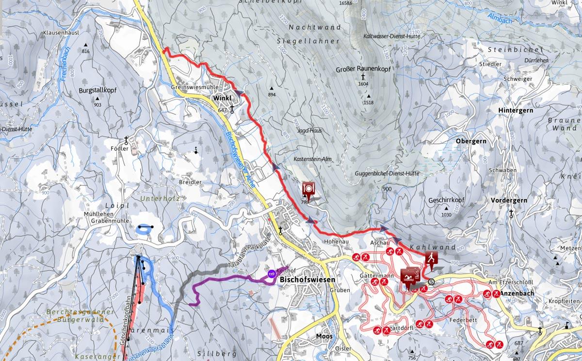 Winterwanderung Maximilianreitweg Bischofswiesen