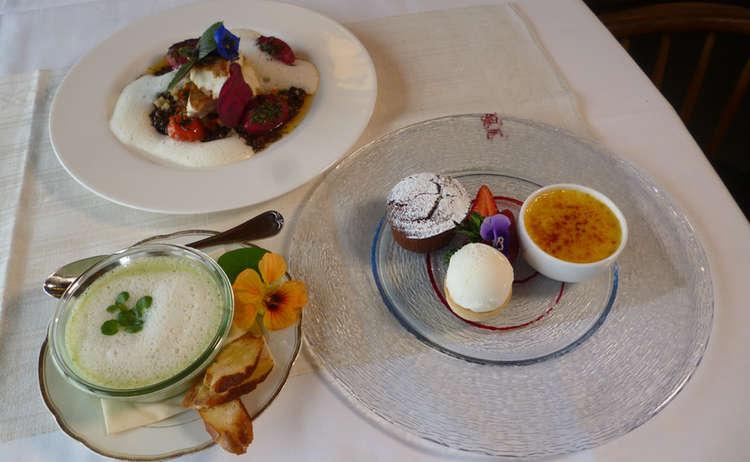 drei-Gänge-Menü im Bergrestaurant Predigtstuhlbahn