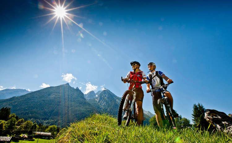 Mountainbiken am Fuße des Watzmanns im Berchtesgadener Land