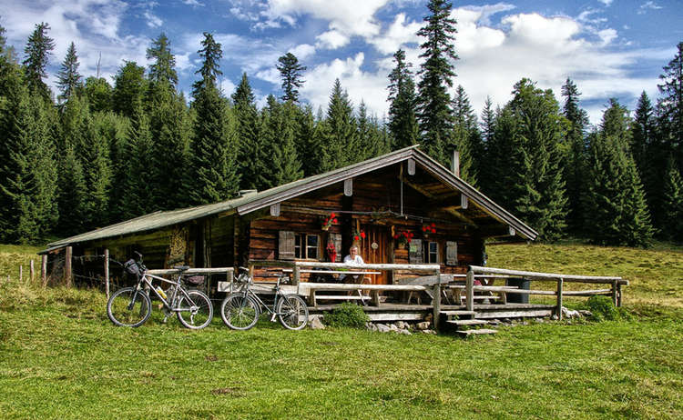 Anthaupten-Alm Mountainbiker