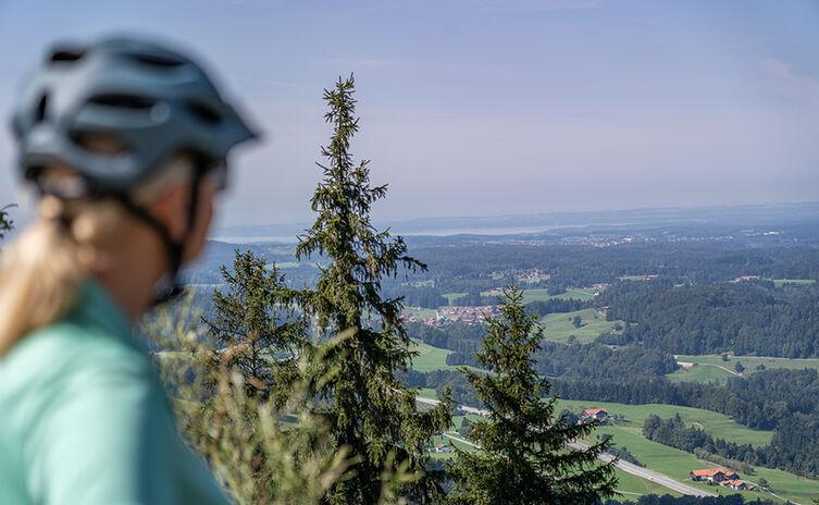 Ausblick auf den Chiemgau und Chiemsee