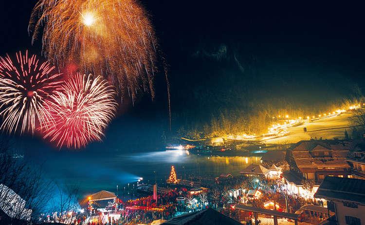 Neujahrsparty Feuerwerk Koenigssee 1