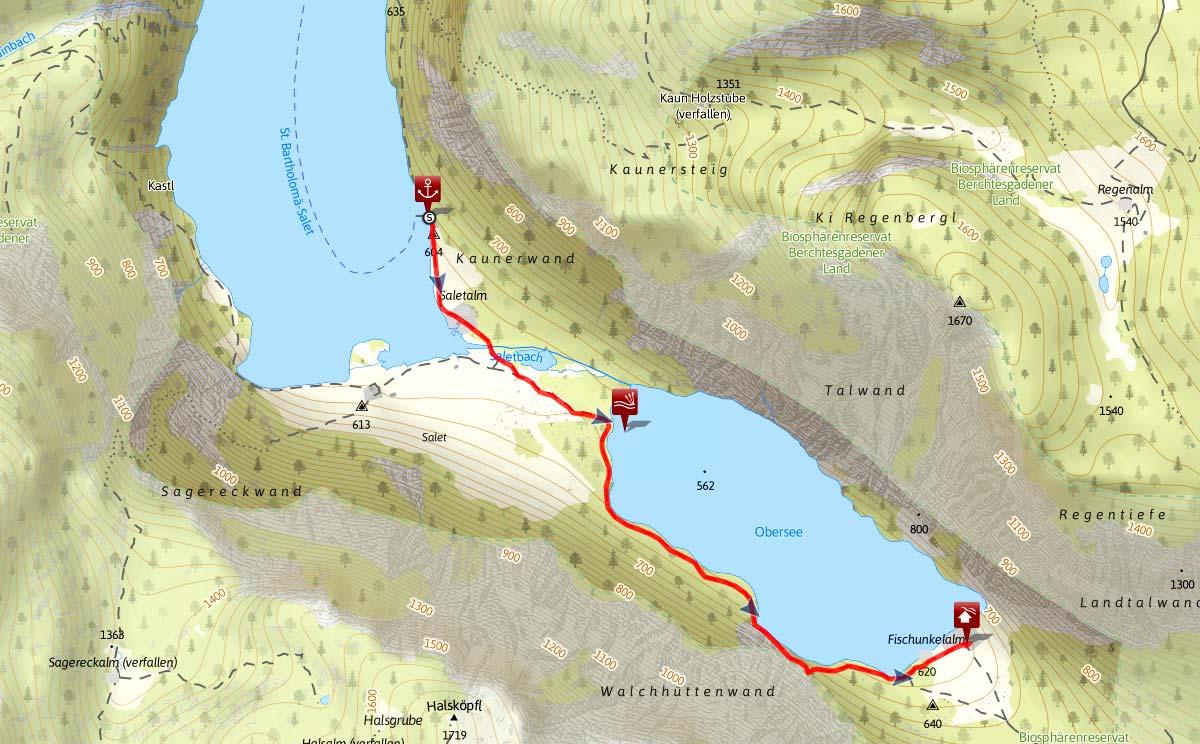 Obersee Wanderung: Von Salet zur Fischunkel