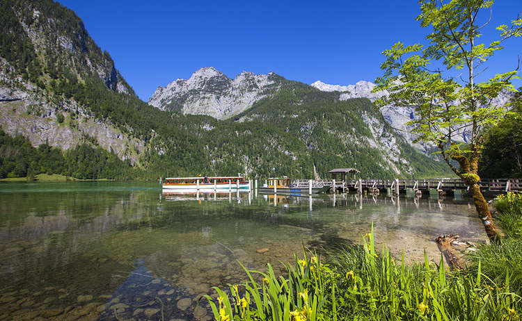 Obersee Am Koenigssee Wandern Bayern