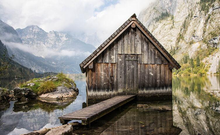 Die Bootshütte am Südende des Obersees