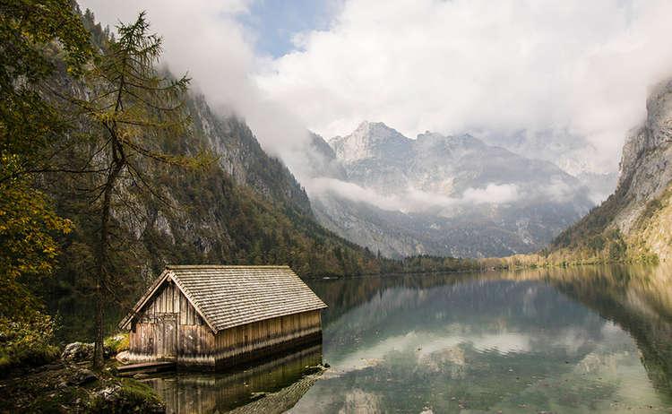 Die Bootshütte am Obersee