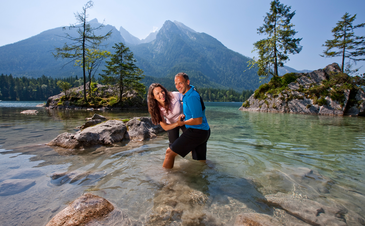 Wanderer Paar am Hintersee