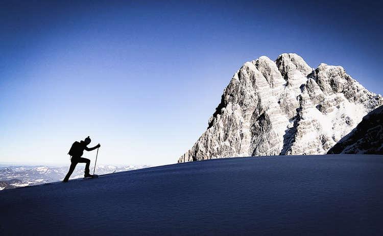 Philipp bei einer Skitour im Watzmann-Massiv